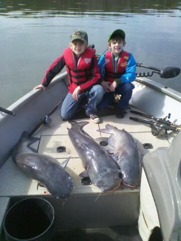 Badin lake blue catfish
